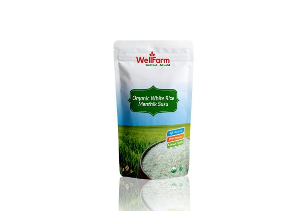 Wellfarm Beras Organik Menthik Susu