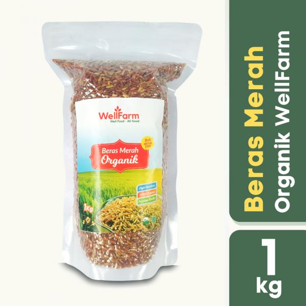 jual wellfarm beras merah organik