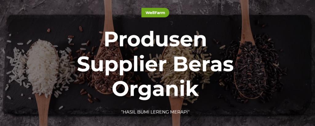 wellfarm produsen beras organik